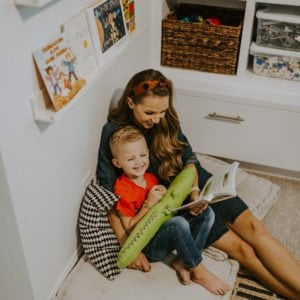 reading corner playroom