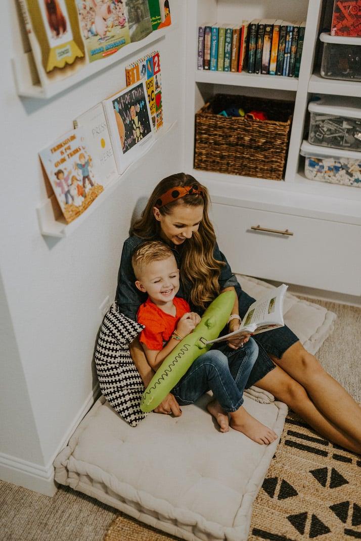 reading corner playroom