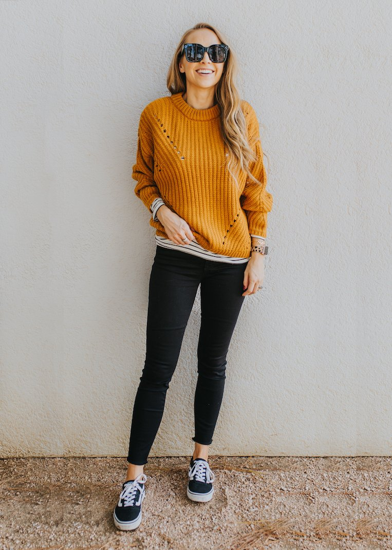an easy fall outfit