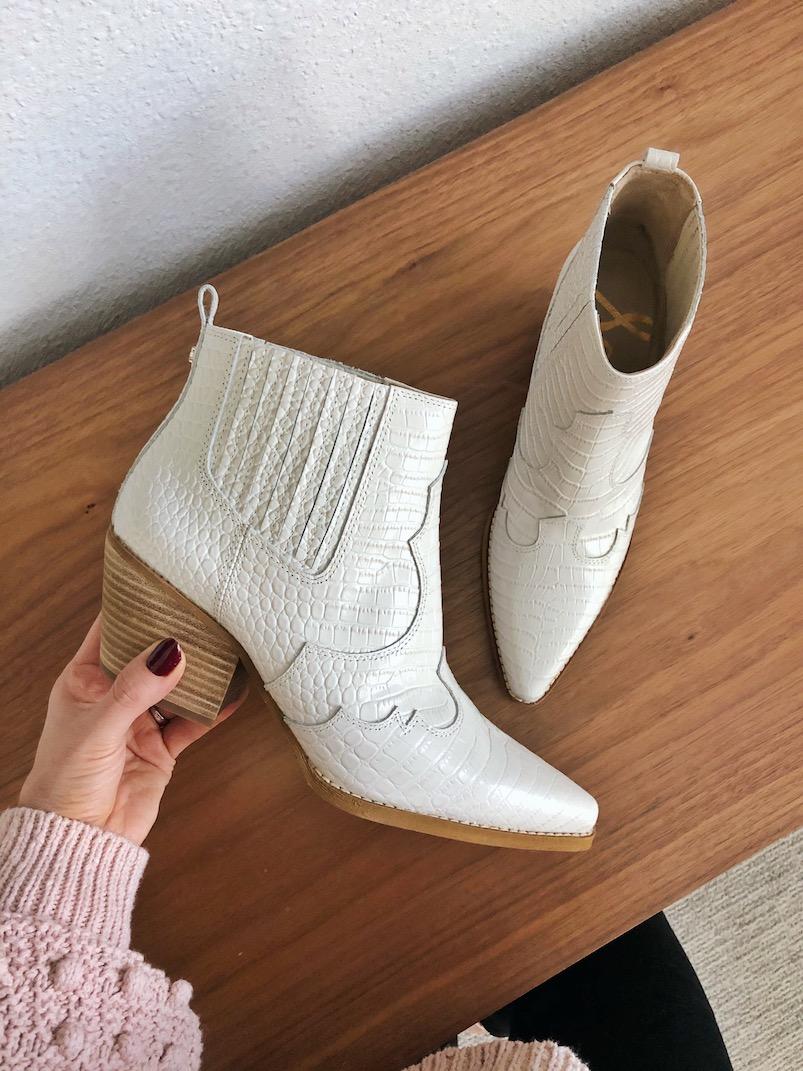 white sam edelman boots