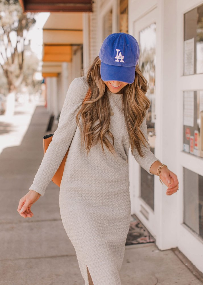 baseball hat and dress