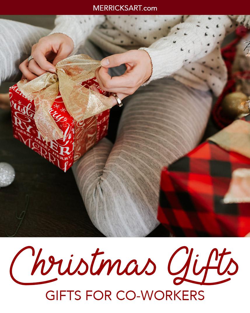 small wrapped christmas present striped christmas pajamas