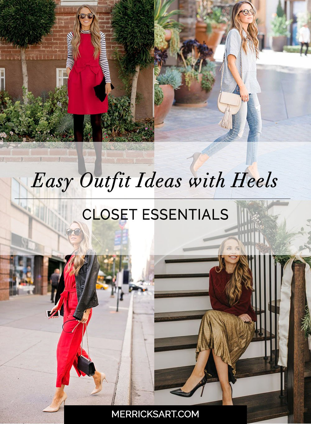 A bunch of ways to style heels