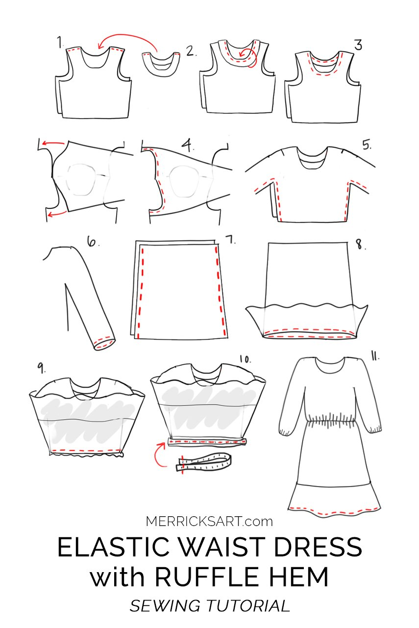 sewing pattern illustration