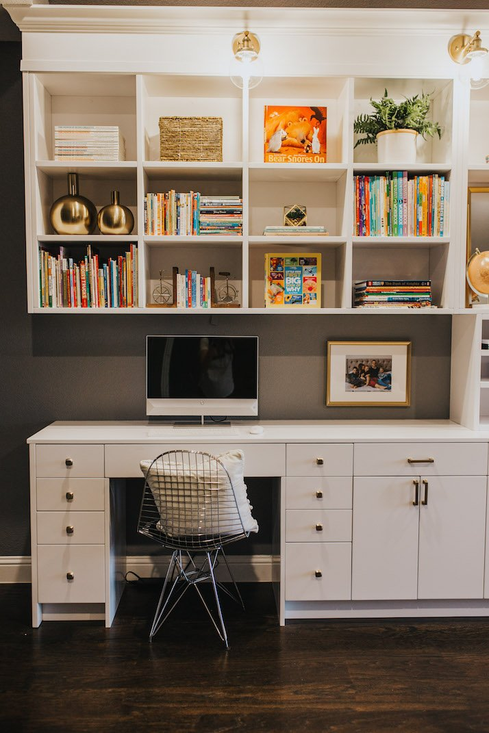 Desk with bookshelves
