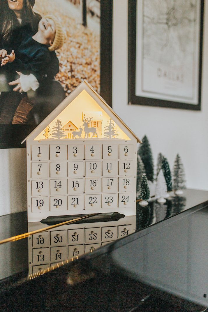 wooden advent calendar with numbers