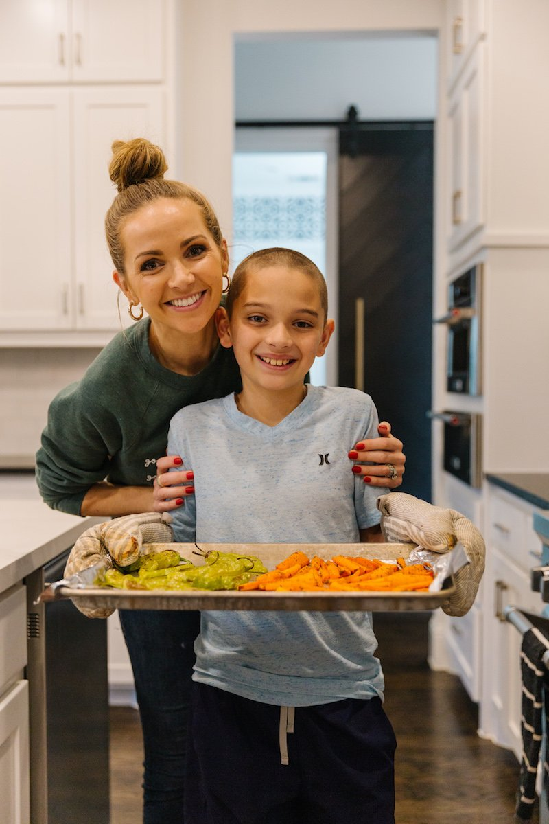 blue apron cooking with kids