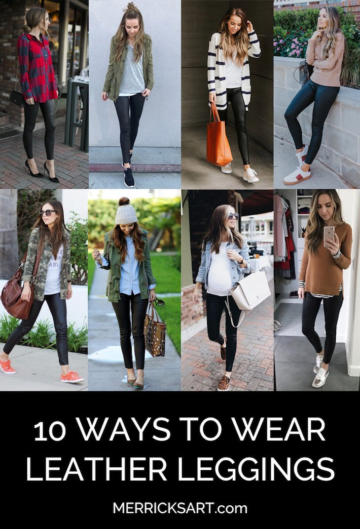 leather leggings collage outfits