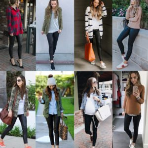 leather leggings outfits collage