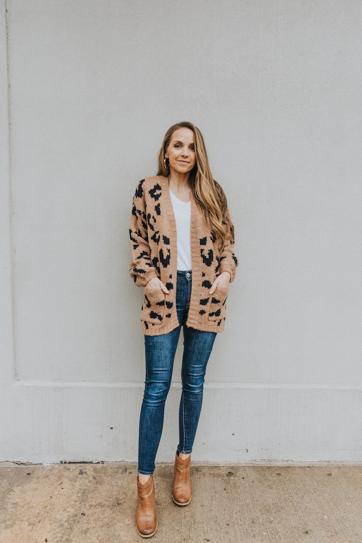 dark jeans with ankle boots and tee