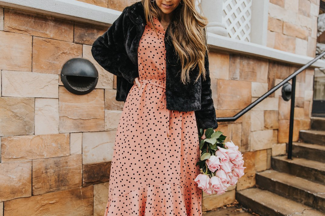 polka dot dress for valentine's day