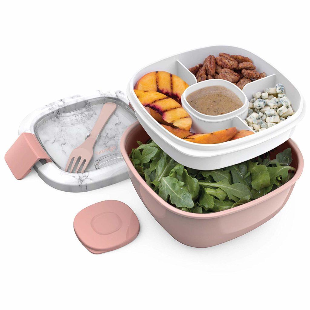 blush bentgo salad bowl