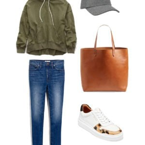 sweatshirt and jeans with sneakers