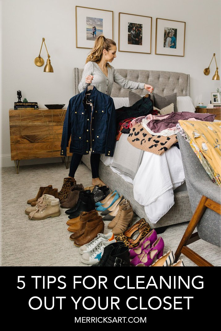 cleaning closet in bedroom