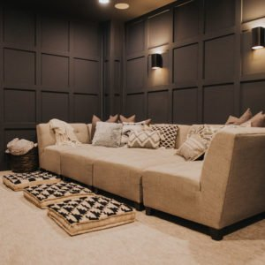 gray home theater
