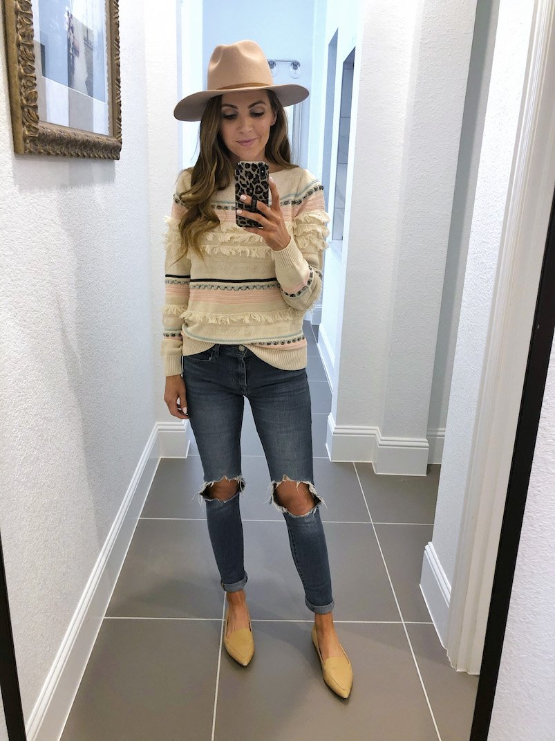 fringe sweater loft