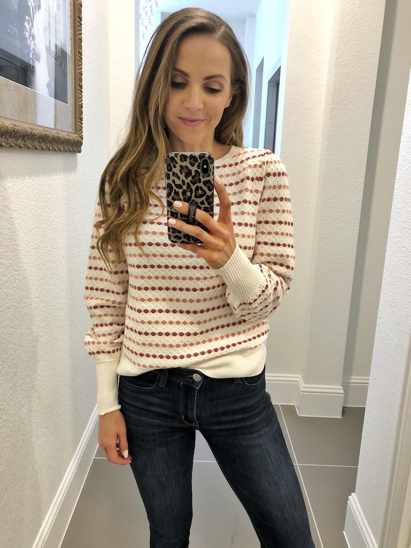 Loft striped textured sweater