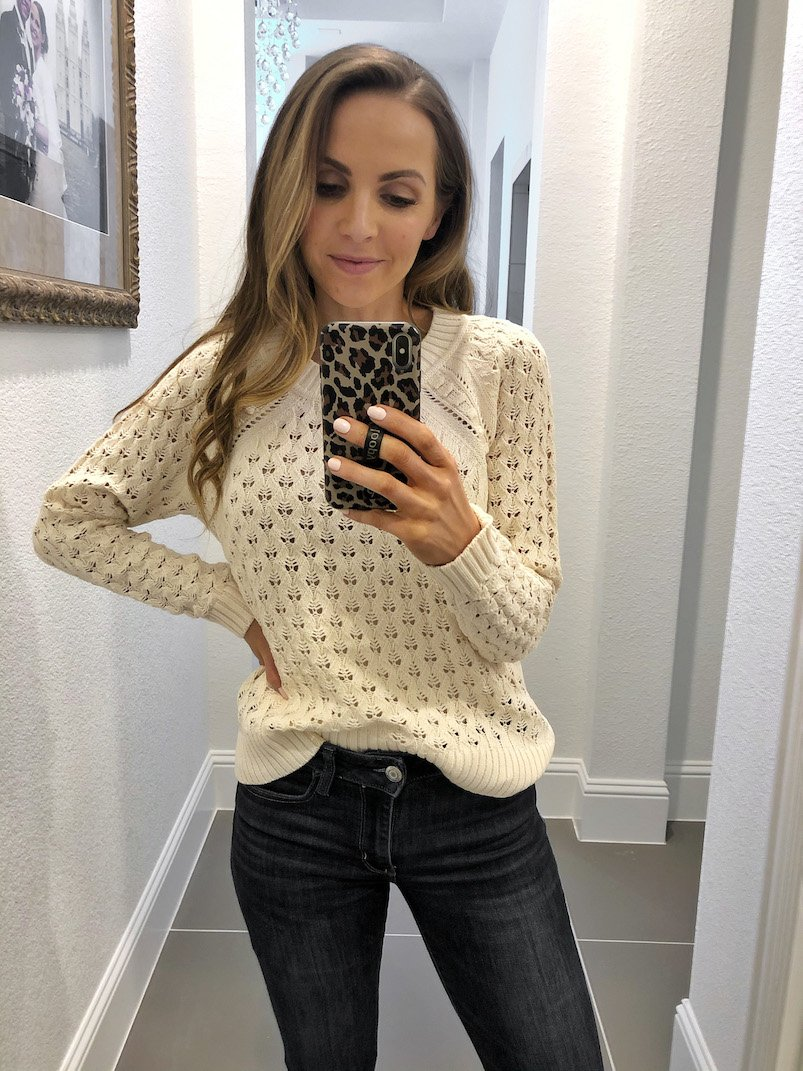 floral bobble sweater loft