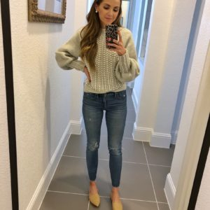 pearl sweater with jeans