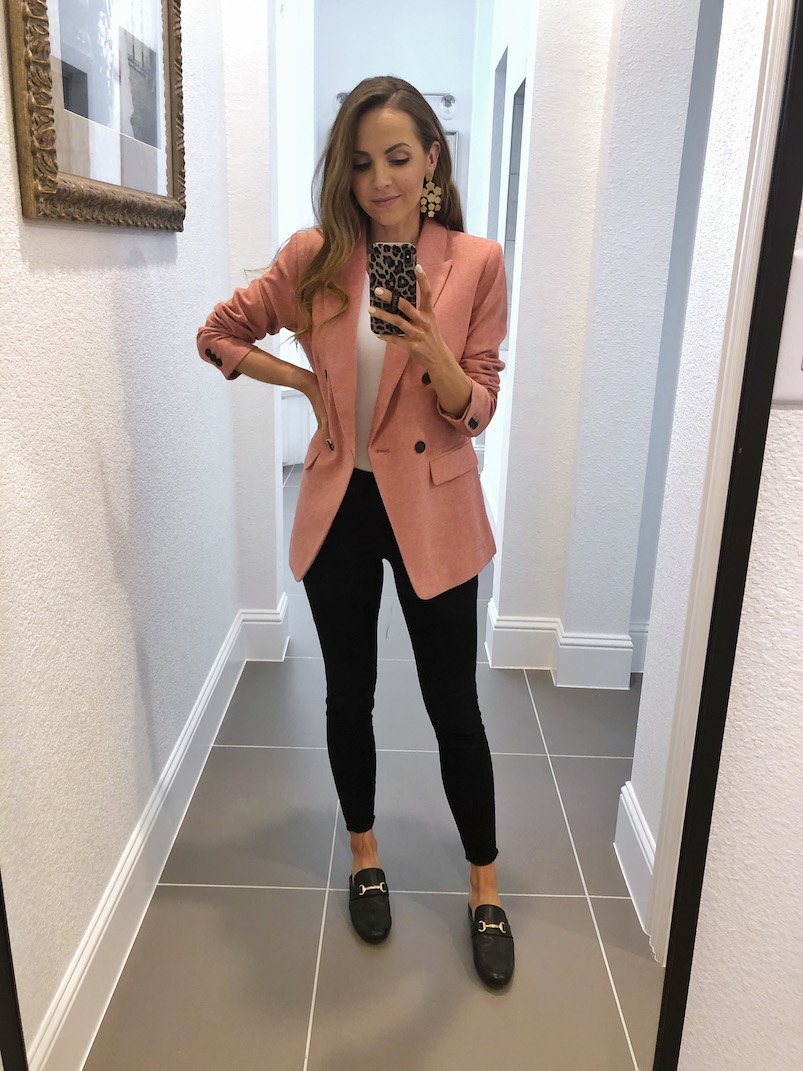 LOFT pink blazer