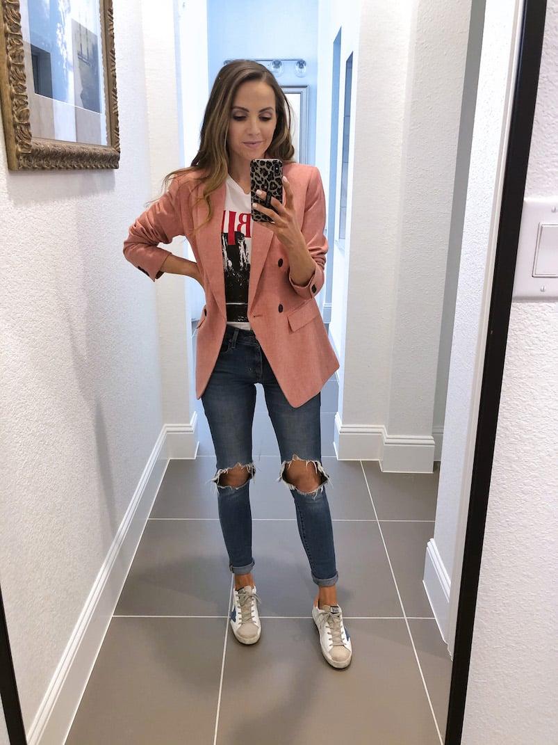 pink loft blazer
