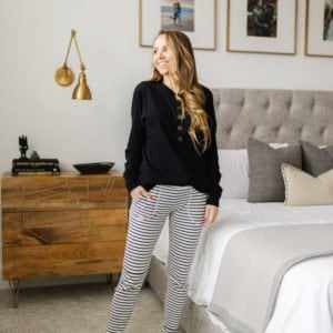 striped joggers women sewing pattern