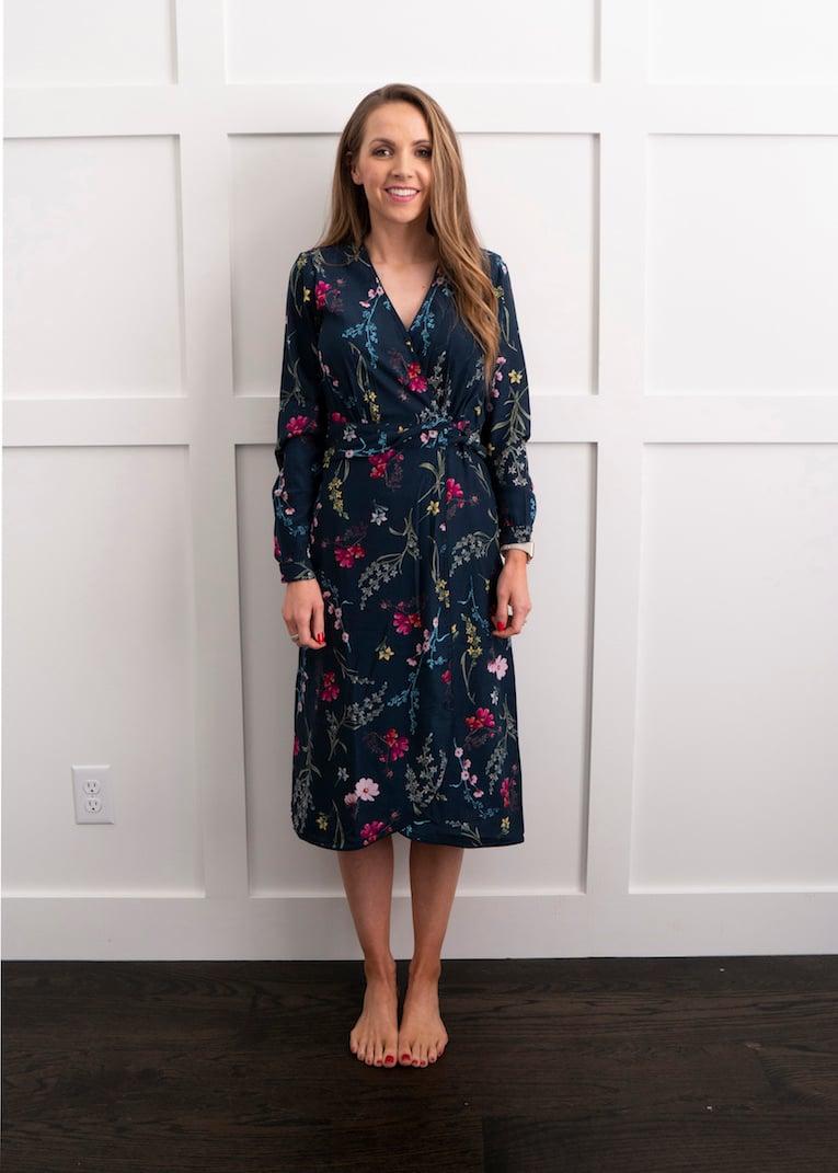 walmart spring wrap dress