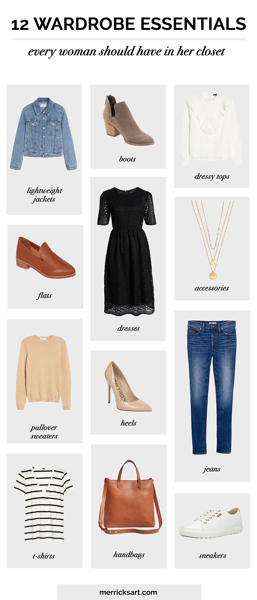 12 wardrobe essentials
