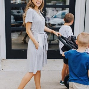 weekend recap - gray henley dress