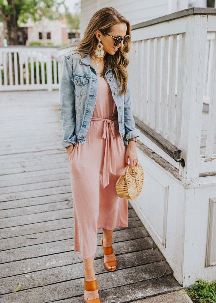 weekend recap - pink midi dress