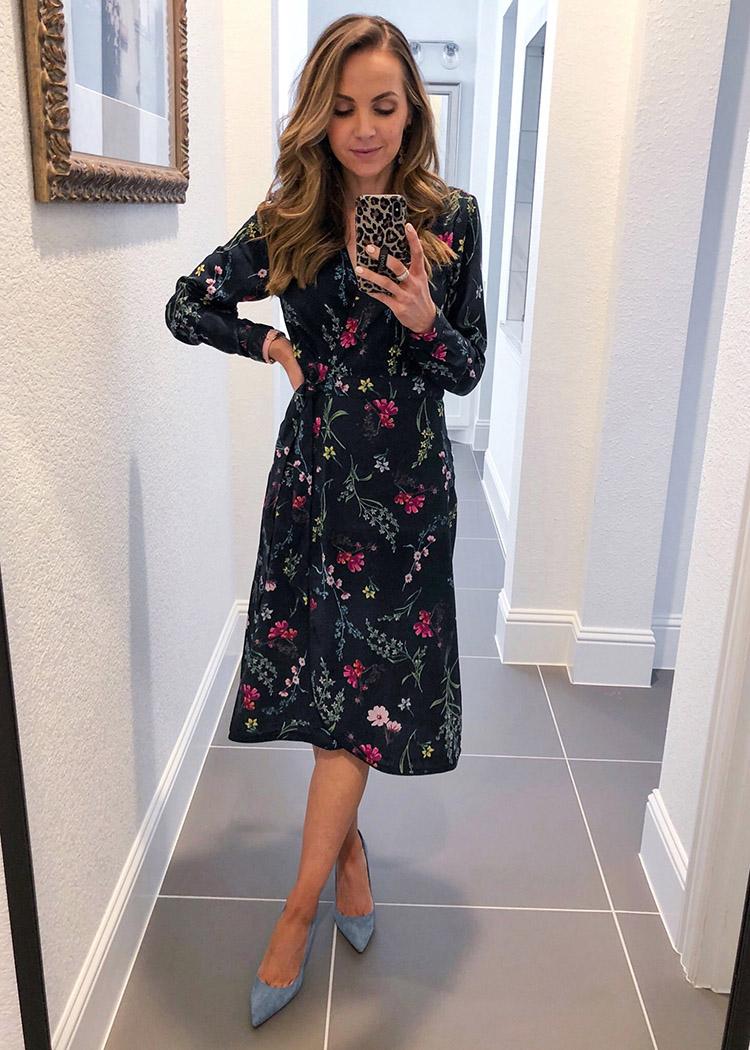 weekend recap - floral midi dress