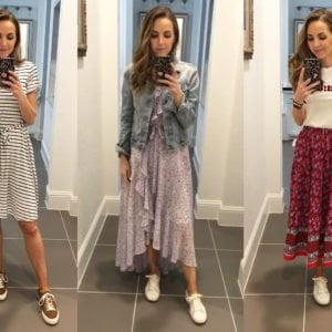sneakers and dresses outfits
