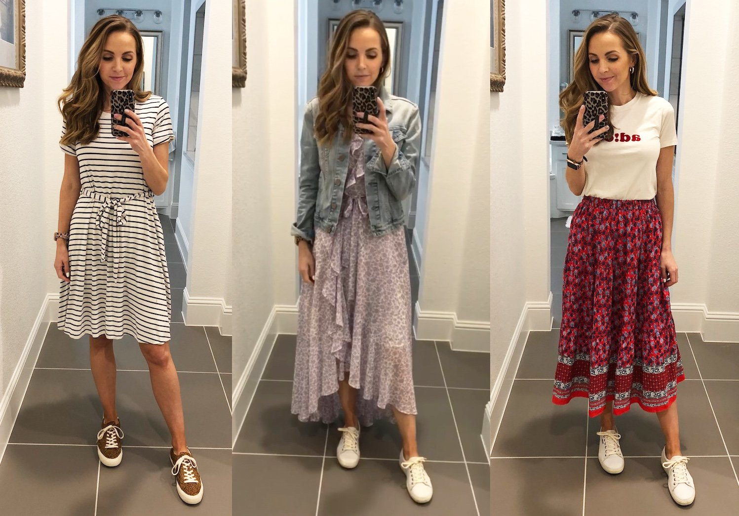 to Wear a Skirt or Dress and Sneakers