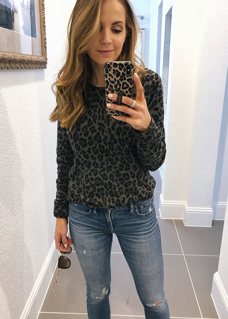 weekend recap - leopard print long sleeve tee