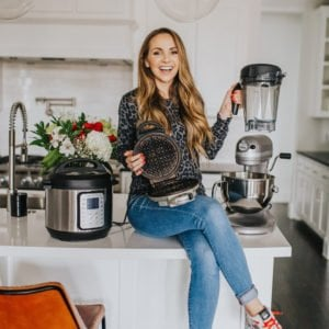 merrick in white kitchen with instant pot and blender
