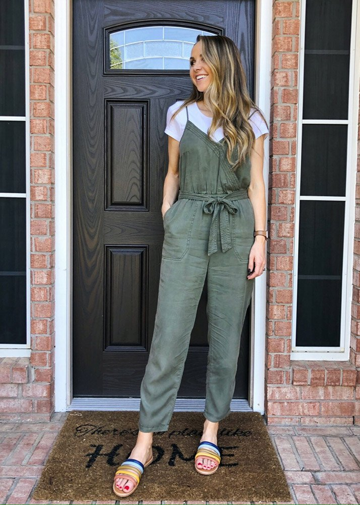 weekend recap - olive green jumpsuit