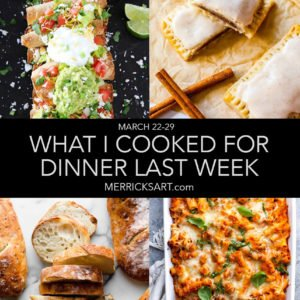 weekly menu dinner ideas
