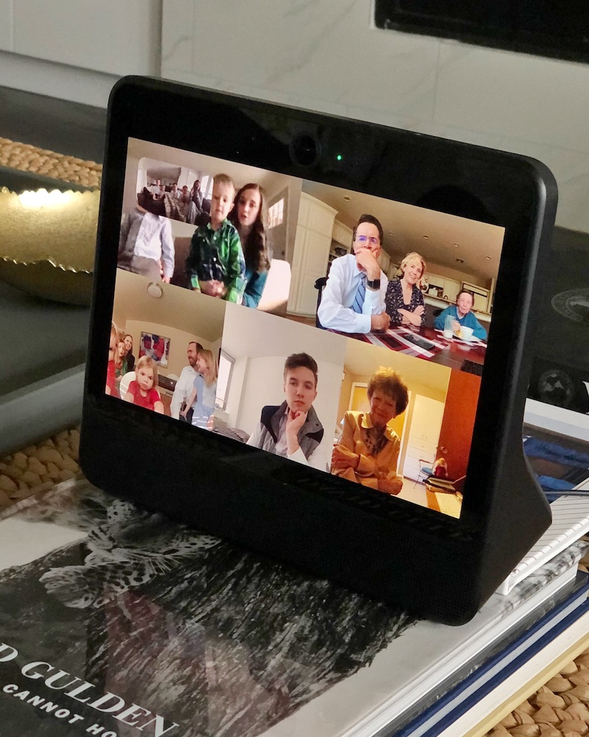 family on the facebook portal
