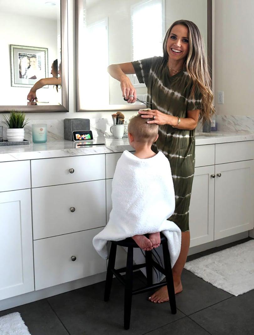 cutting boys hair at home