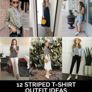 striped t-shirt outfit ideas