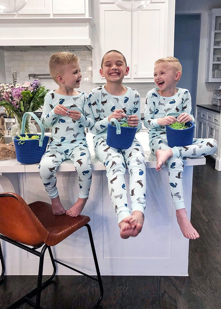 weekend recap - easter pajamas