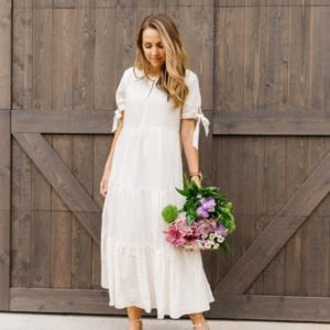 weekend recap - white dress with sandals