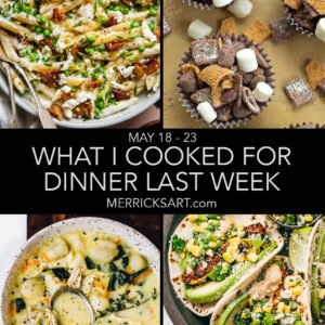 collage of recipes in our weekly menu