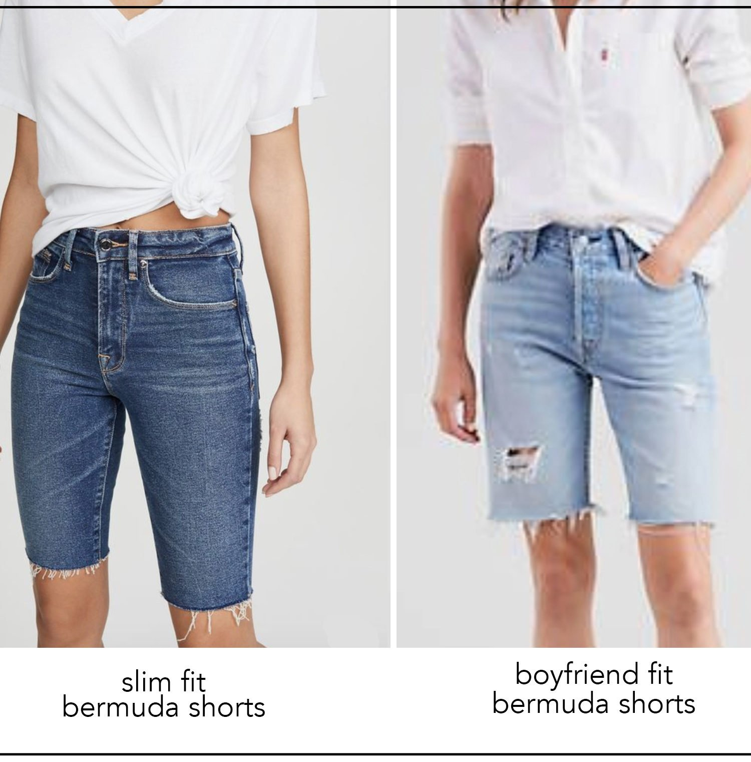 How to Wear Bermuda Shorts (+ Tons of Shorts Outfit ideas