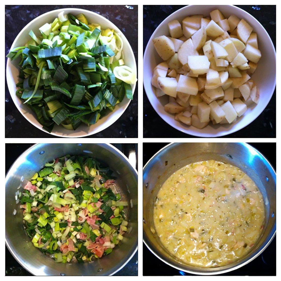 chicken, bacon potato soup