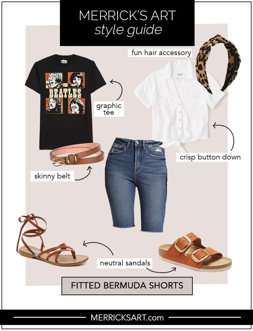 fitted bermuda shorts style guide