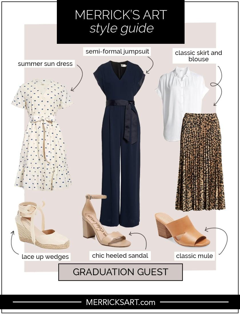 graduation guest outfit idea collage