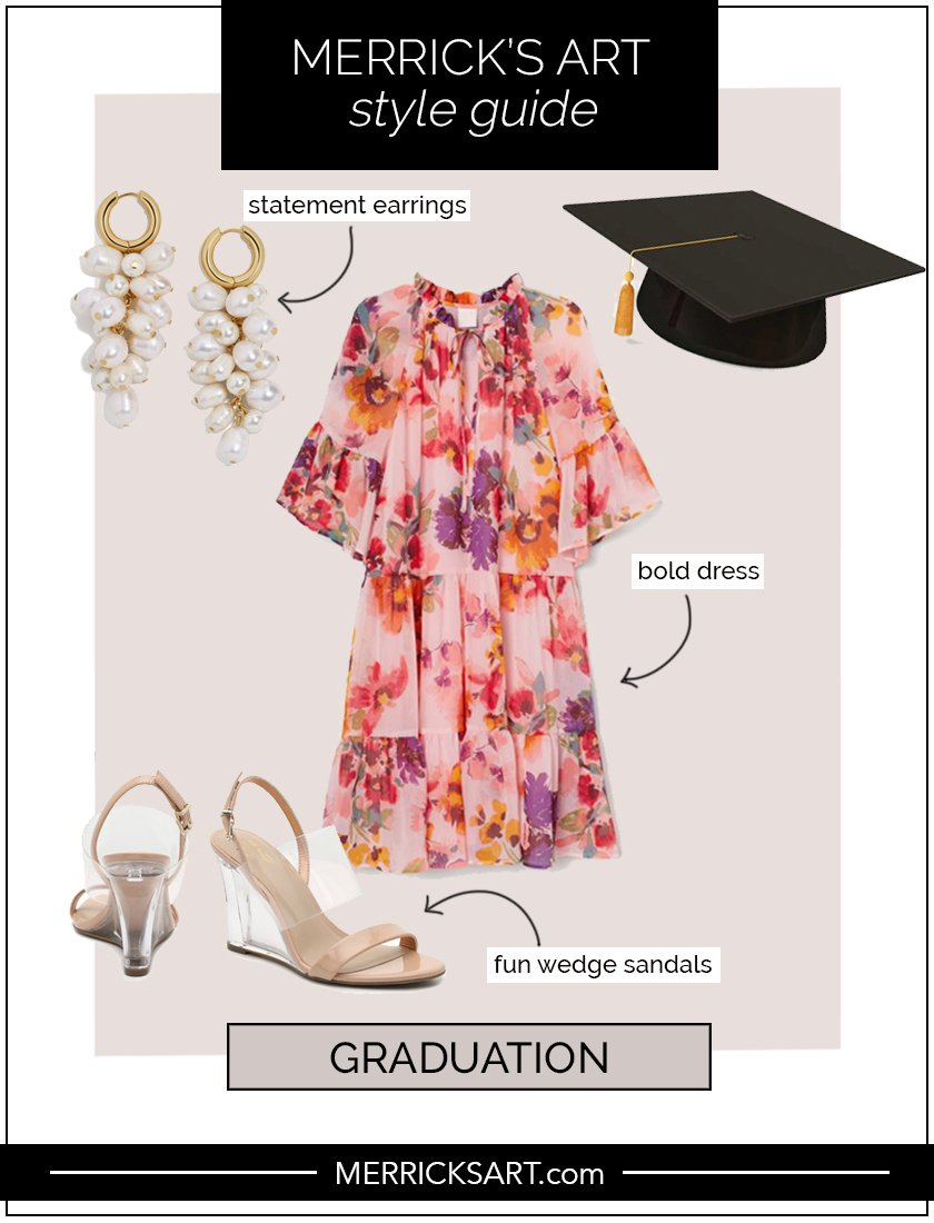 graduation outfit collage