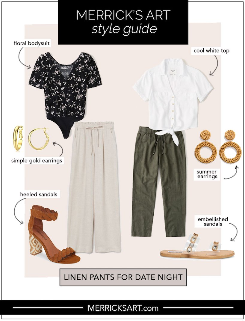 linen pants outfit ideas for date night