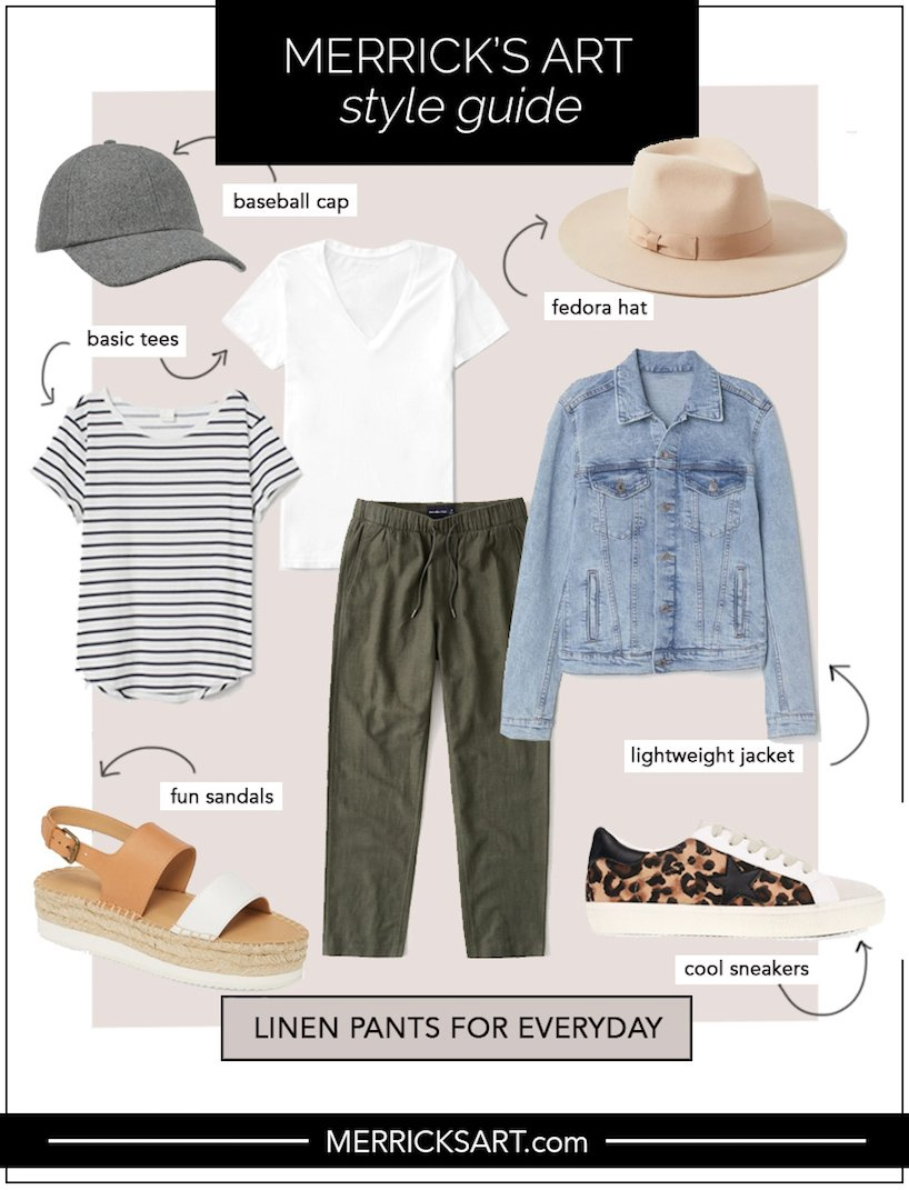 linen pants outfits for everyday